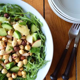 Cucumber, Bean, Mint & Apple Salad with Roasted Hazelnuts GF SCD