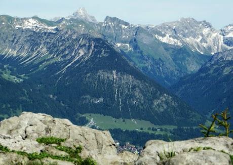 Besler Gipfel Ausblick Oberstdorf, Nebelhorn, Hochvogel, Schneck, Großer Wilder, Höfats, Obermaiselstein Allgäu