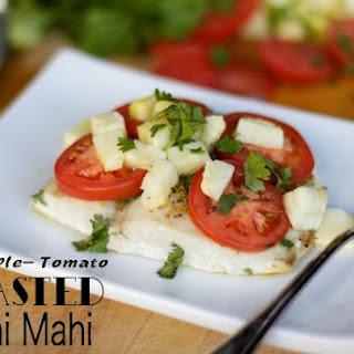Pineapple-Tomato Roasted Mahi Mahi