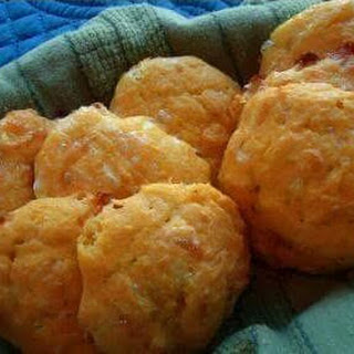 Coconut Flour Cheddar Drop Biscuits.