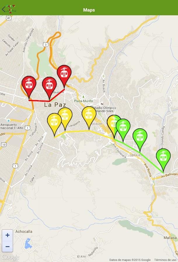 Teleférico La Paz Android Apps On Google Play - la paz map