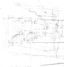 Photo: 醫療中心2010.09.01原子筆 突然被派到這裡,於是拿起巡邏表的背面畫了起來,想等有空時再謄到冊子裡,只是謄過之後才發現,我還是喜歡這張,線條雖然簡單,卻很生動。
