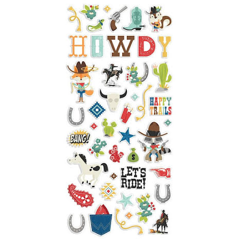 Simple Stories Puffy Stickers - Howdy!