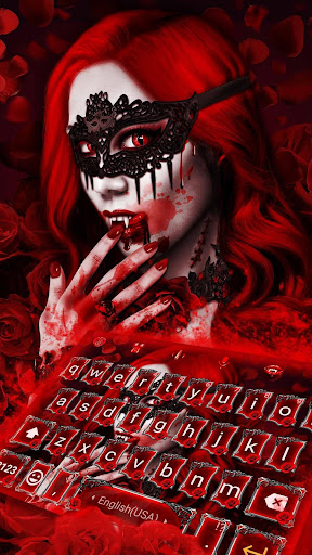 Red Rose Vampire Love Keyboard Theme for PC