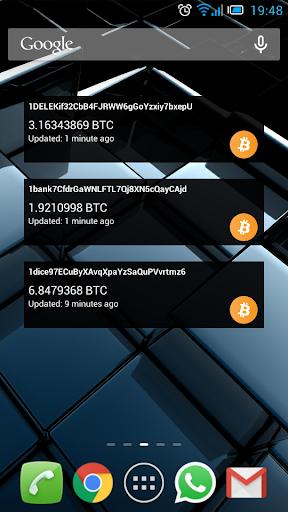 Blockchain Balance Widget