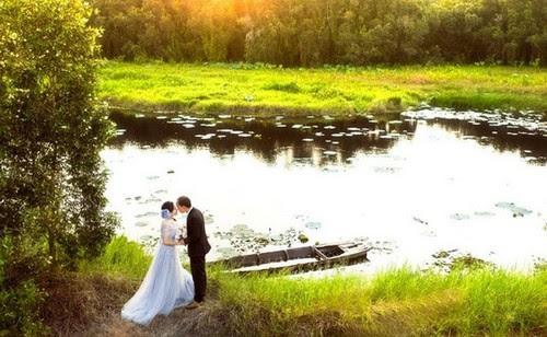 Làng nổi Tân Lập lung linh trong ảnh cưới 6