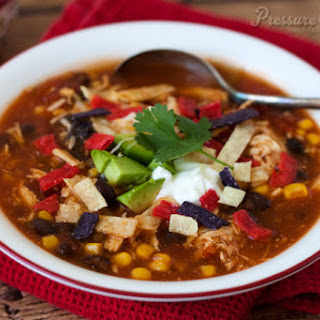 Quick and Easy Pressure Cooker Chicken Enchilada Soup