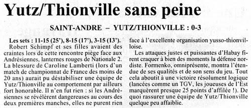 Photo: 10-03-97 N2F Saint-André - ASVB 0-3
