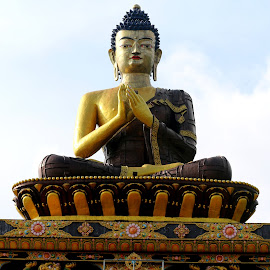 The Enlightened One................. by Soutik Halder - Buildings & Architecture Statues & Monuments ( buddhism, gautam, ravangla, sikkim, buddha,  )