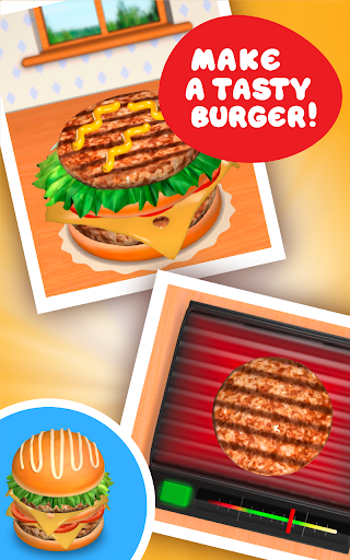 Burger Deluxe - Cooking Games apkpoly screenshots 8