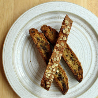 Oatmeal Chocolate Chip Biscotti