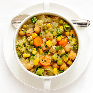 Chickpea and Cabbage Soup.