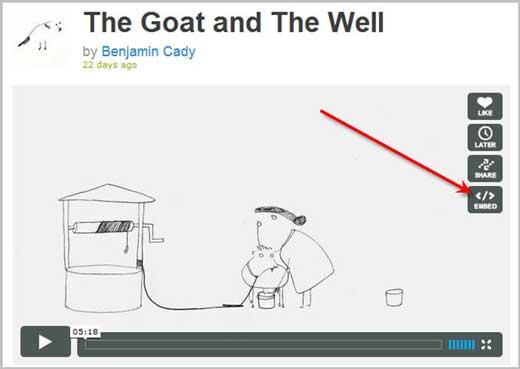Как вставить, встроить в пост или на сайт видео Vimeo.com