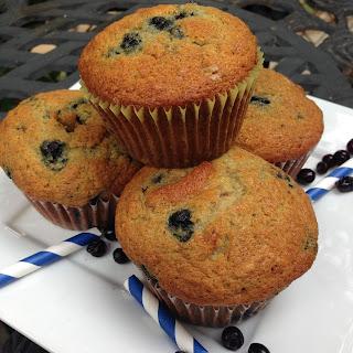 Blueberry Banana Walnut Muffins.