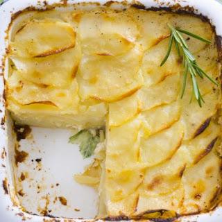 Baked Sliced Potato Gratin