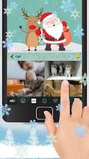Cartoon Christmas Keyboard Theme - náhled