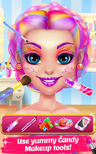 Candy Makeup Beauty Game - Sweet Salon Makeover apkpoly screenshots 2