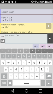 Pyonic Python 3 interpreter- screenshot thumbnail
