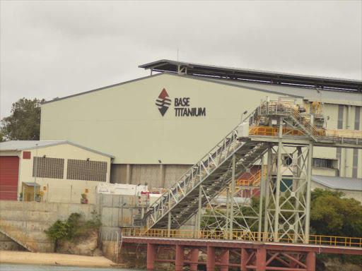 Base titanium company in Likoni,Mombasa. /FILE