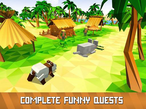 Blocky Panda Simulator - be a bamboo bear! 2.2.4 screenshots 7