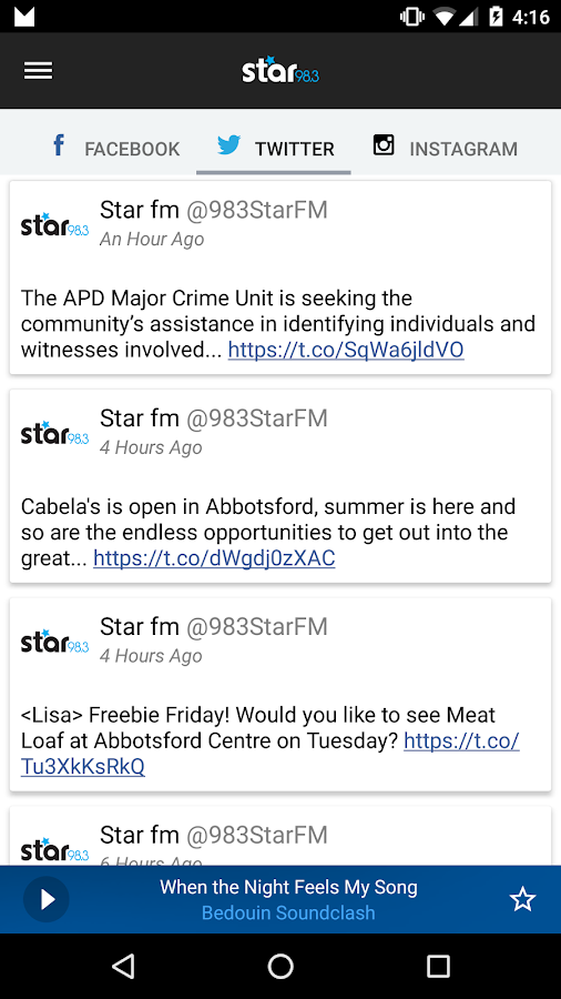 STAR 98.3- screenshot