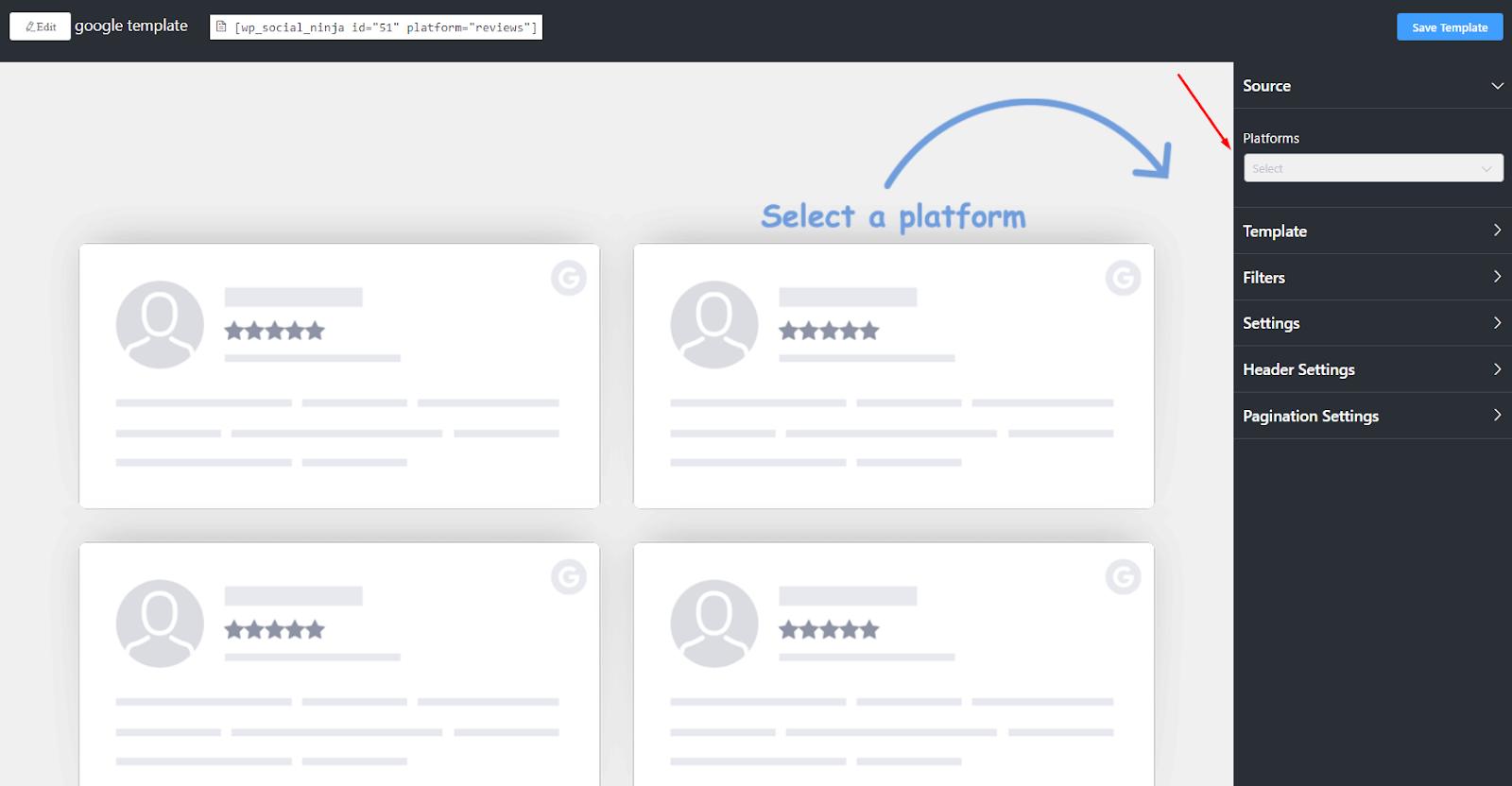 Google reviews platform