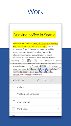 Microsoft Word: Write, Edit & Share Docs on the Go 16.0.13029.20182 Screenshots 3