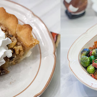Maple Brown Sugar Walnut Pie & Maple-Glazed Brussels Sprouts