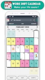 Work Shift Calendar мод