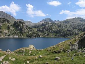 Photo: Val d'Aran:  estany Major de Colomèrs i pic de Ratera