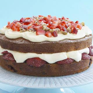 Strawberry and Walnut Cake.