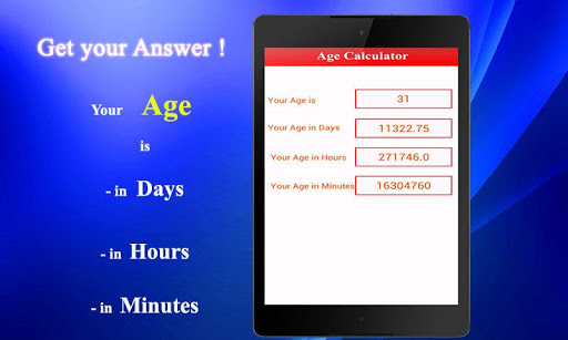 Age Calculator 1.0.1 screenshots 2