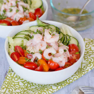 Shrimp and Crab Salad with Lemon Chive Dressing.