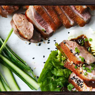 Roasted Duck Breasts with Baby Cos and Paleo Hoisin Sauce Recipe
