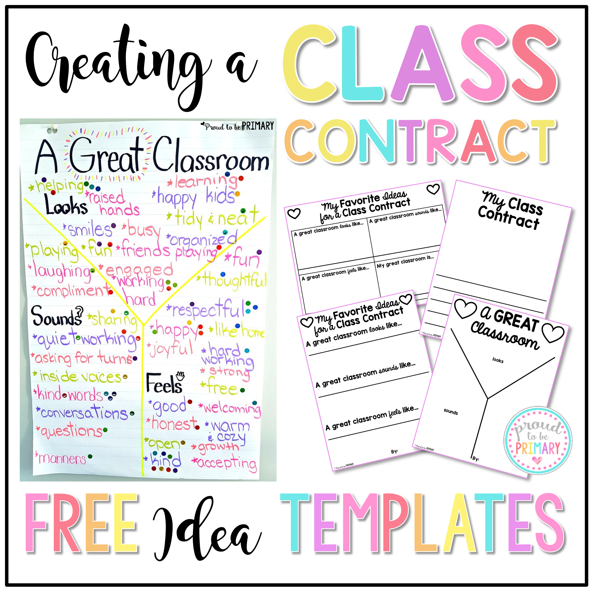 building classroom expectations - free class contract idea templates