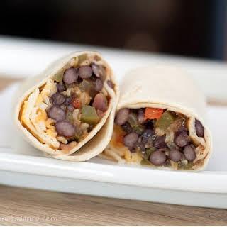 Freezer Black Bean Fajita Burritos.