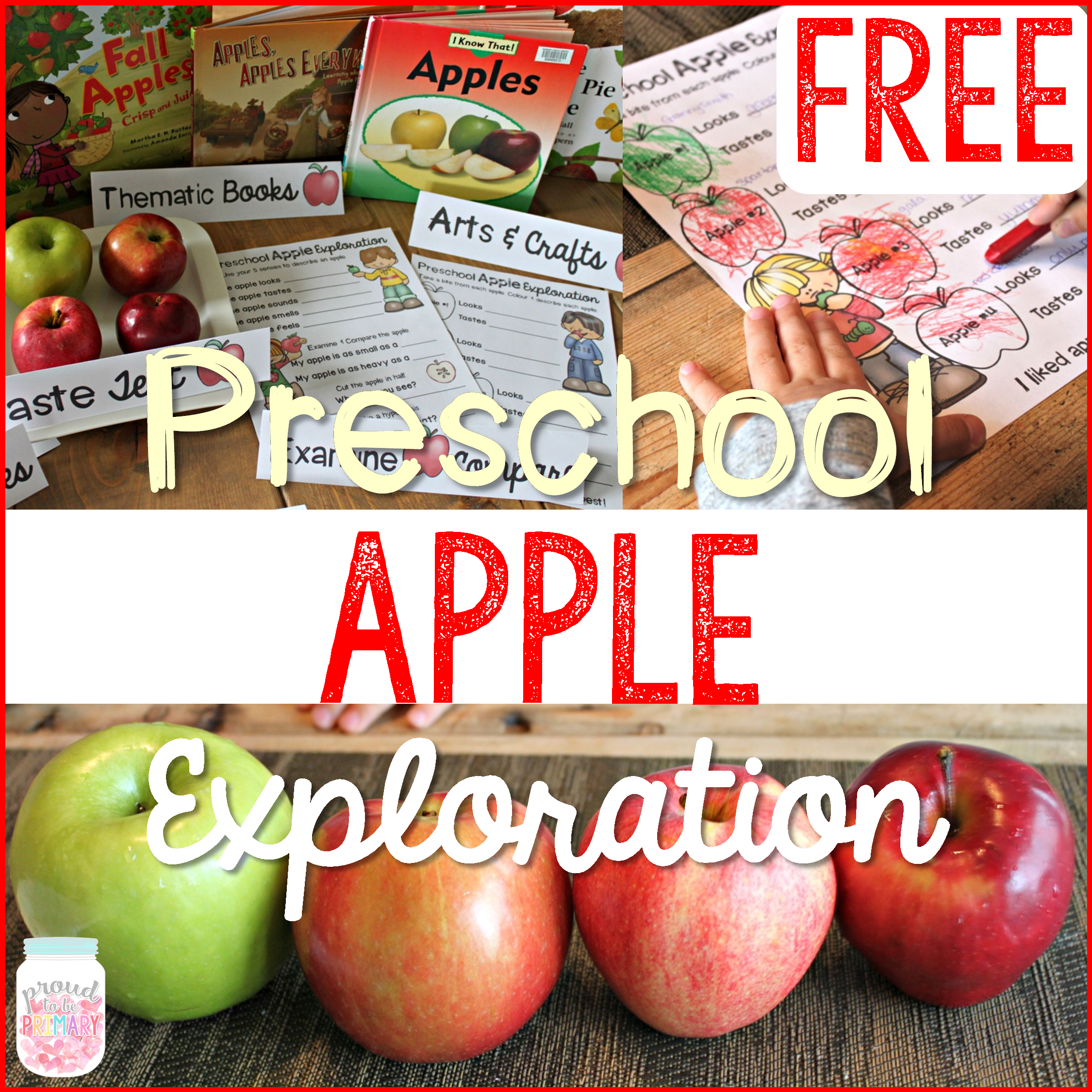 apple activities - preschool apple exploration