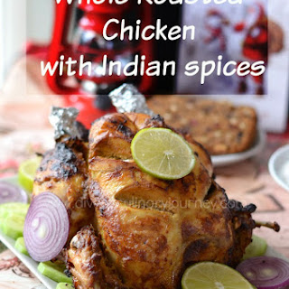 Whole Roasted Chicken with Indian spices | How to Roast Whole Chicken