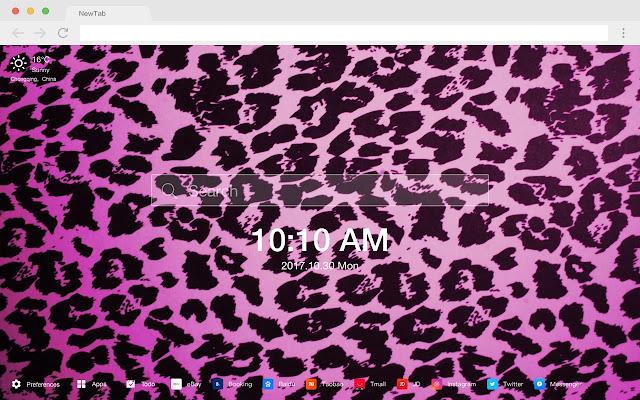 Leopard pattern pop HD new tab page theme
