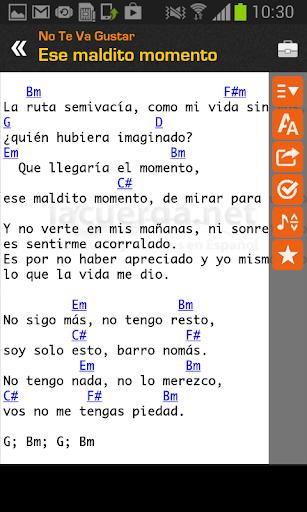Tabs & Chords in Spanish screenshot 2