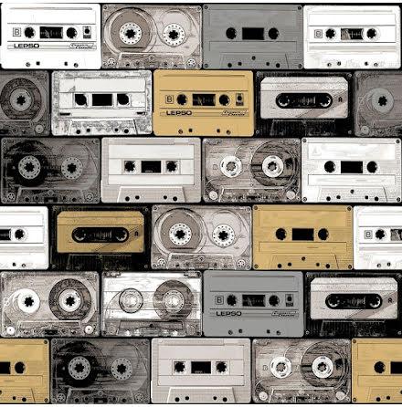Christiana Masi Hashtag 11030 Tapet med kassettband, Beige/Svart/Vit