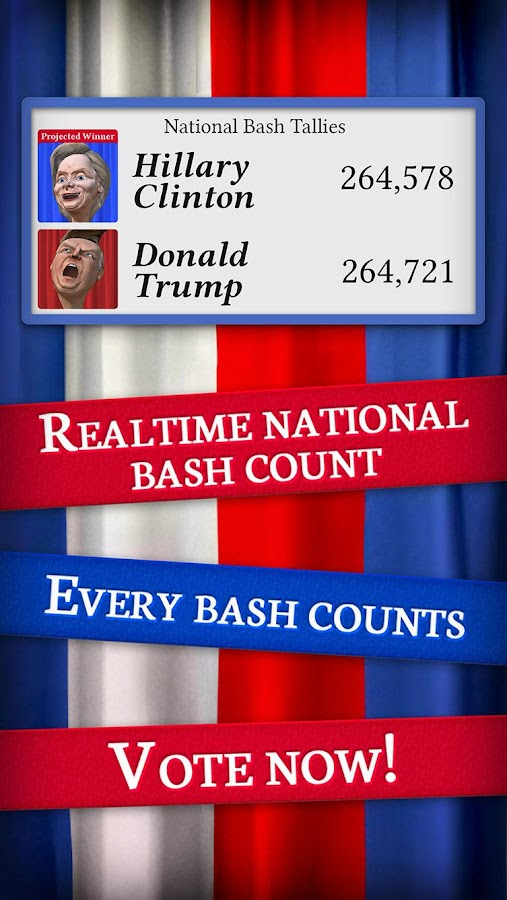 Bash the Vote Trump vs Clinton- screenshot