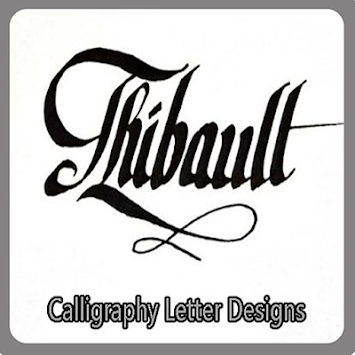 calligraphy letter designs by maezurra poster