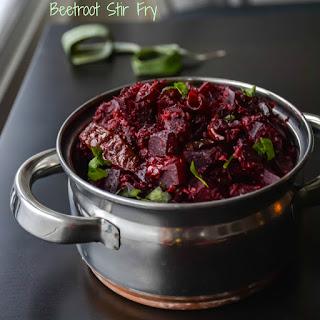 Beetroot Poriyal / Beetroot Stir Fry