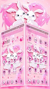 Shiny kawai Pink Rabbit Theme - náhled