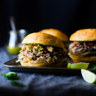 """Pho"" Slow Cooker Pulled Pork Sandwiches"