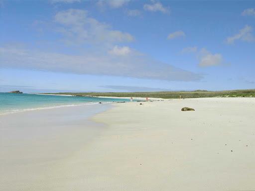 Galapagos-Espanola-beach - The beach on Española Island in the Galápagos.