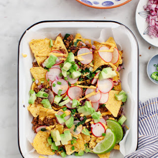 Healthy Loaded Vegan Nachos.