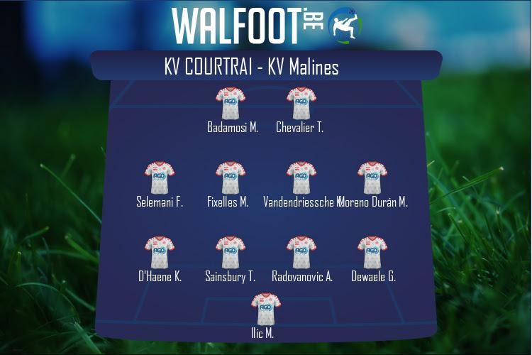 KV Courtrai (KV Courtrai - KV Malines)