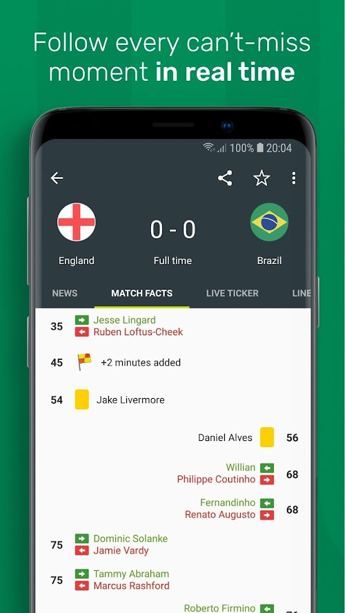 Screenshot 3 FotMob - Live Soccer Scores 88.0.5796.20181122 APK PAID